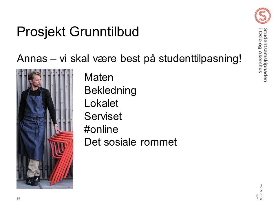 Prosjekt Grunntilbud Annas – vi skal være best på studenttilpasning.
