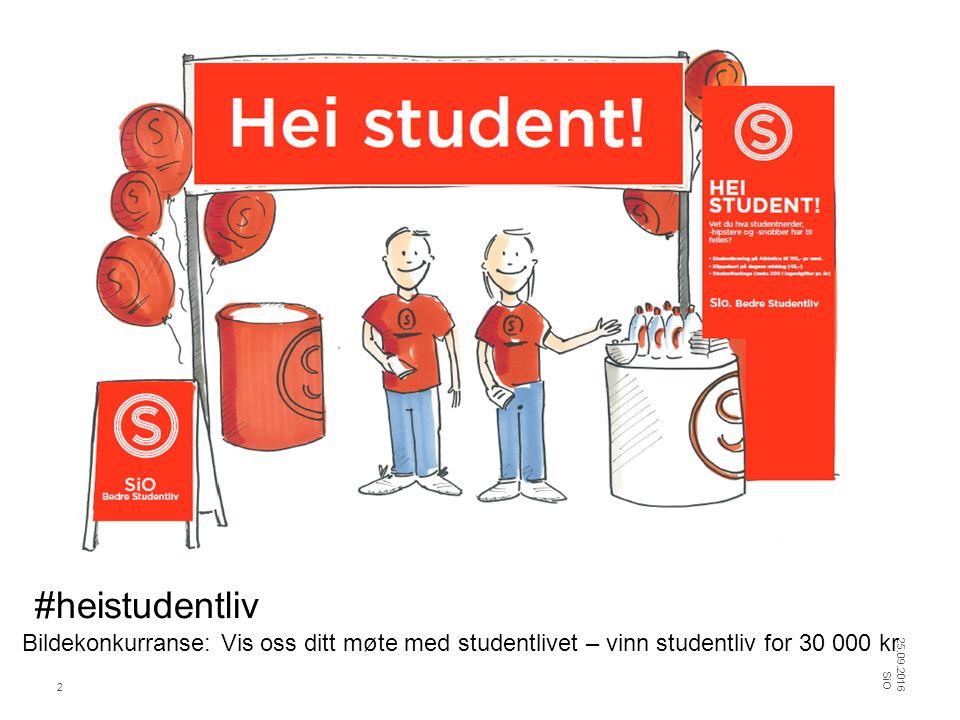 Studentenes startpakke - annonse 25.09.2016 SiO 13
