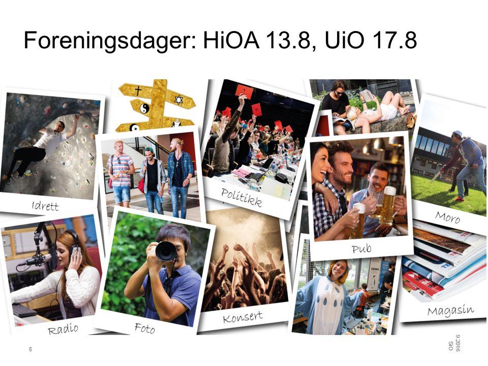 Stands 25.09.2016 SiO 7 To uker med stands på UiO og HiOA, omfattende runde med stands også på BI.