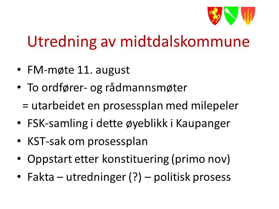 Utredning av midtdalskommune FM-møte 11.