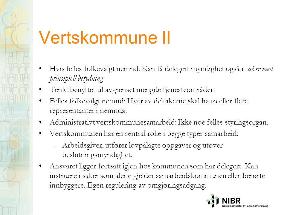 Samkommune Kommuneloven kap.5B fra 2012 Foreslått opphevet, er til behandling i stortingskomiteen.