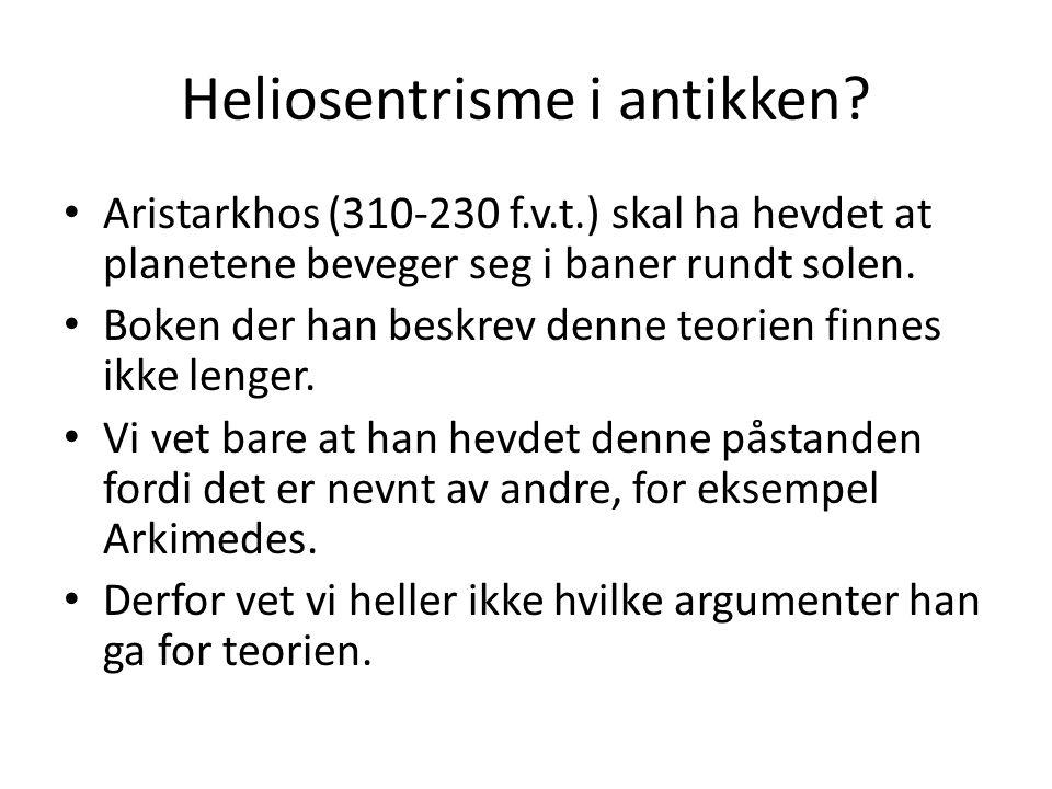 Heliosentrisme i antikken.