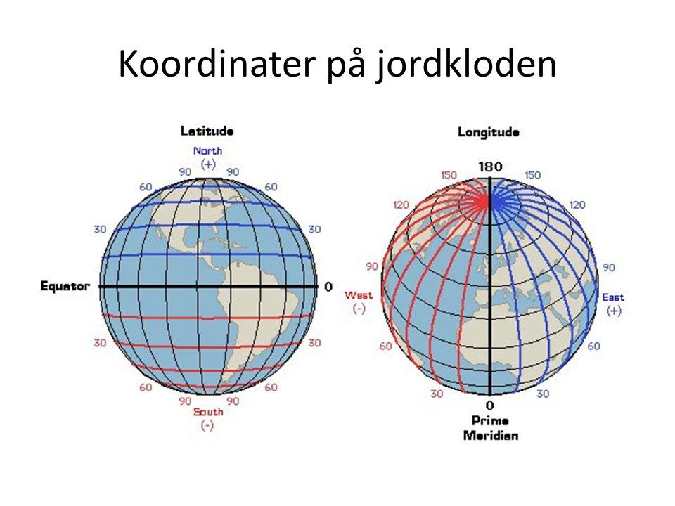 Koordinater på jordkloden