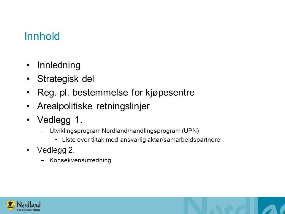 Innhold Innledning Strategisk del Reg.pl.