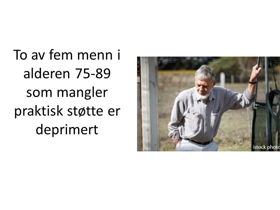 To av fem menn i alderen 75-89 som mangler praktisk støtte er deprimert istock photo