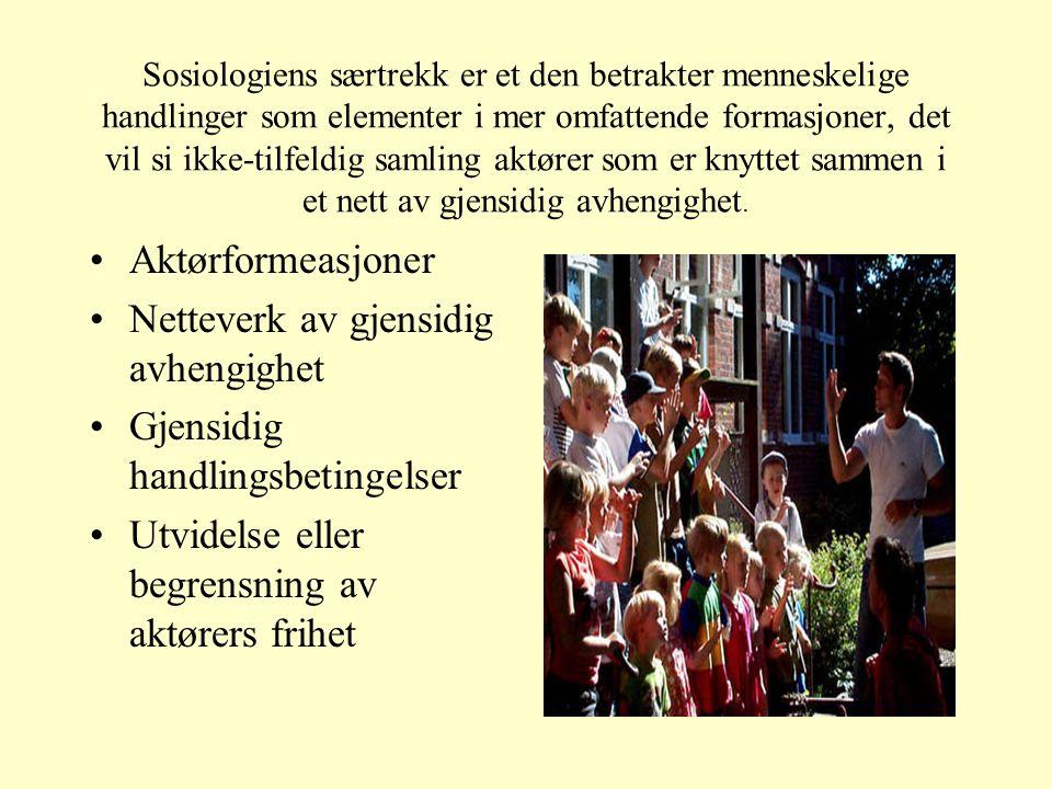 Sosiologi og sunn fornuft Våre erfaringer Dagligdagse praksiser Kontroll over livet vårt Hvilken retning samfunnet beveger seg i.