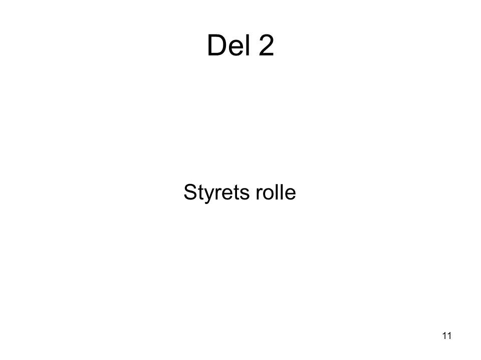 11 Del 2 Styrets rolle