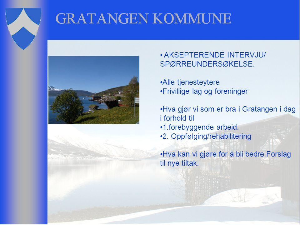 AKSEPTERENDE INTERVJU/ SPØRREUNDERSØKELSE.