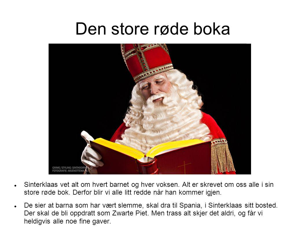 Den store røde boka Sinterklaas vet alt om hvert barnet og hver voksen.