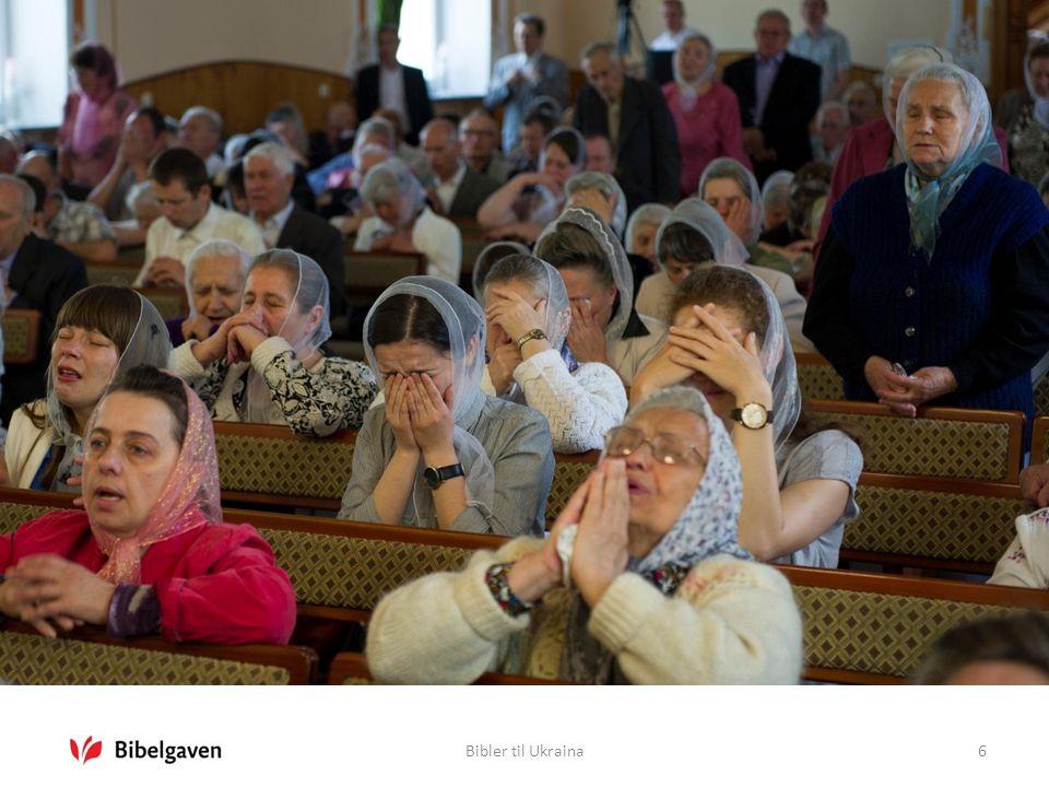 Bibler til Ukraina17  Bibler til flyktninger fra Øst-Ukraina  Bibelutgaver for ungdom  Barnebibler til barnehjem i øst  Bibler til barn og ungdom med kreft etter Tsjernobyl-ulykken i 1986  Nytestamenter i stor skrift til aldershjem