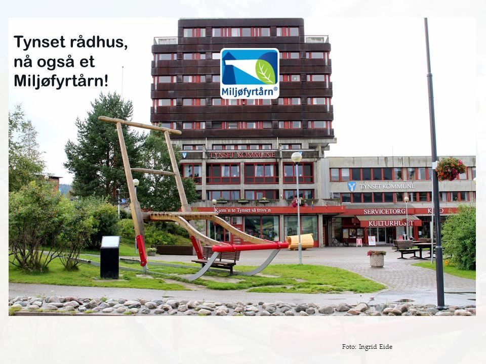 Tynset rådhus, nå også et Miljøfyrtårn! Foto: Ingrid Eide