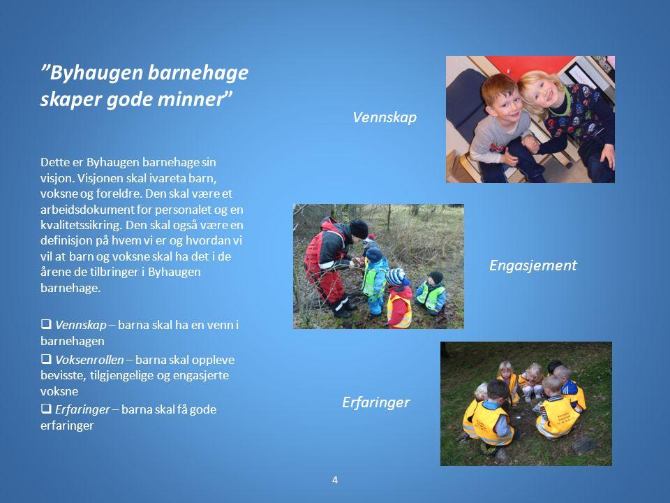 Byhaugen barnehage skaper gode minner Dette er Byhaugen barnehage sin visjon.