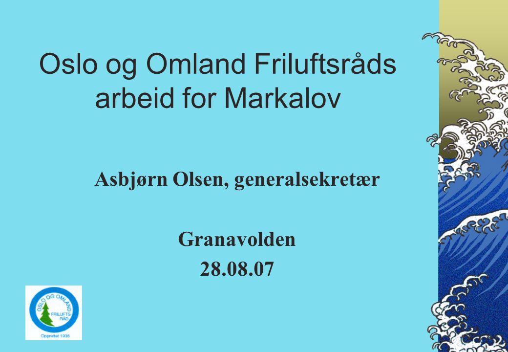 Historien om Markagrensen går tilbake til 1938/41.