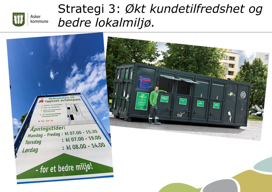 Strategi 3: Økt kundetilfredshet og bedre lokalmiljø.