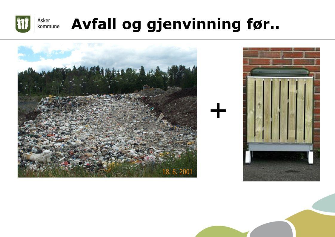 Avfall og gjenvinning før.. +