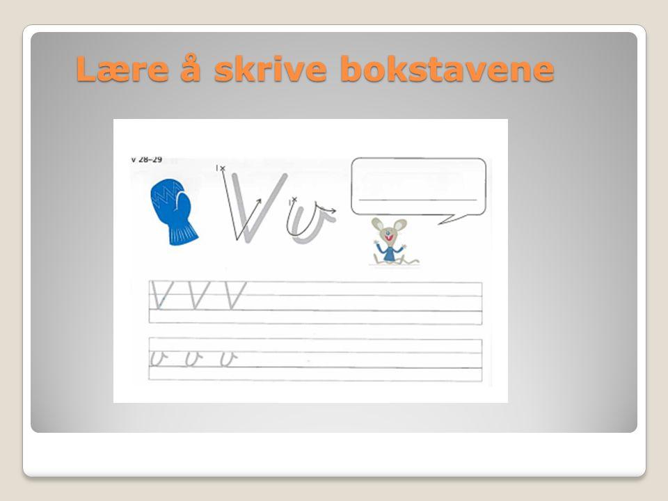 Lære å skrive bokstavene