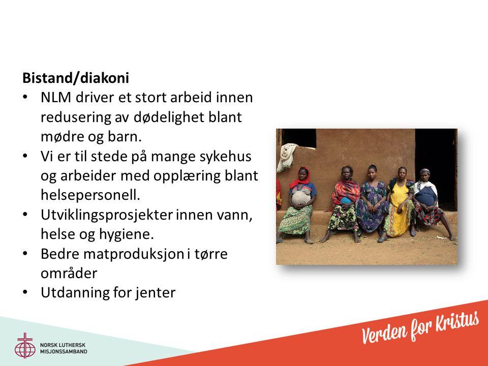 Bistand/diakoni NLM driver et stort arbeid innen redusering av dødelighet blant mødre og barn.