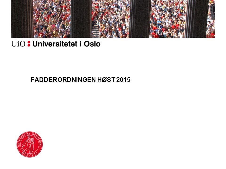 FADDERORDNINGEN HØST 2015