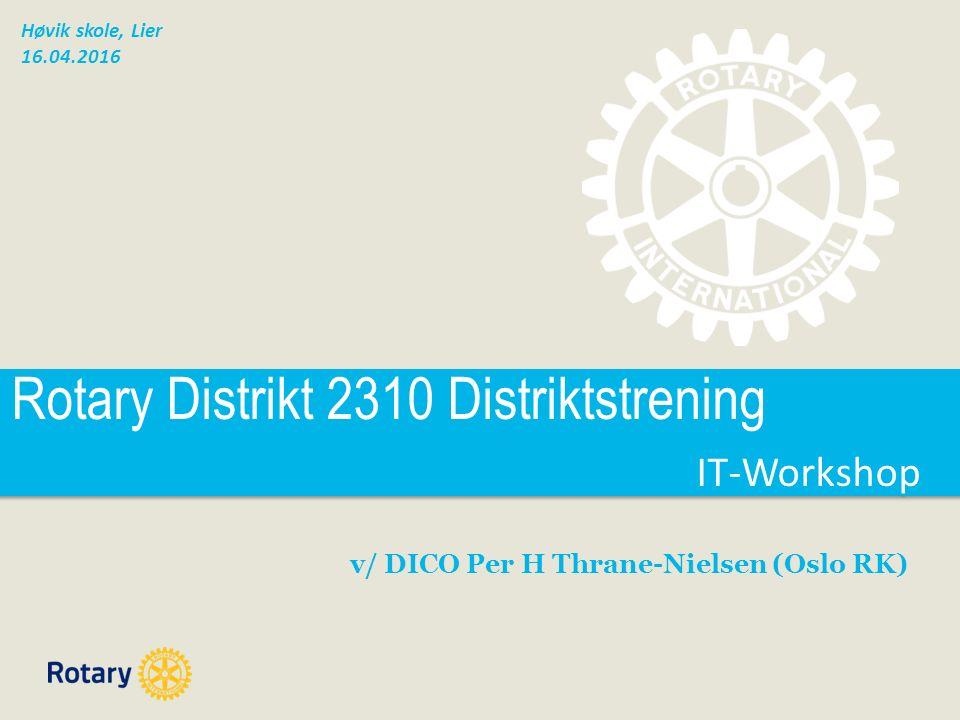4. Nytt Medlemsnett: Distrikt - Vis
