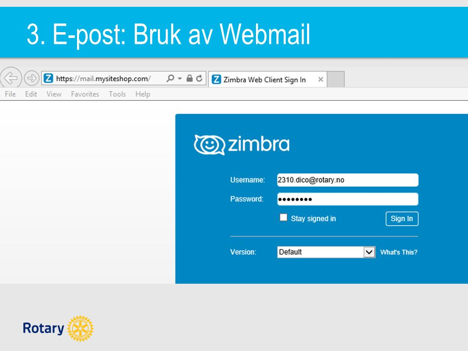 3. E-post: Bruk av Webmail