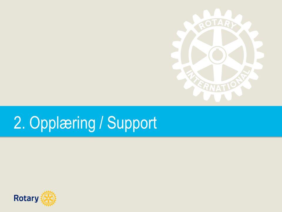 2. Opplæring / Support