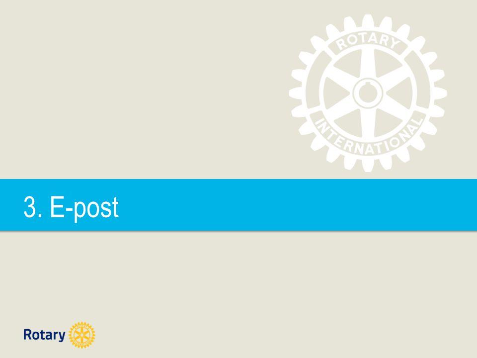  All e-post korrespondanse vi har som følge av de verv vi har i Rotary, bør utføres fra en @rotary.no adresse grunnet merkevarebygging.
