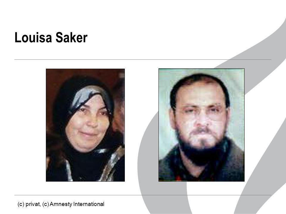 Louisa Saker (c) privat, (c) Amnesty International
