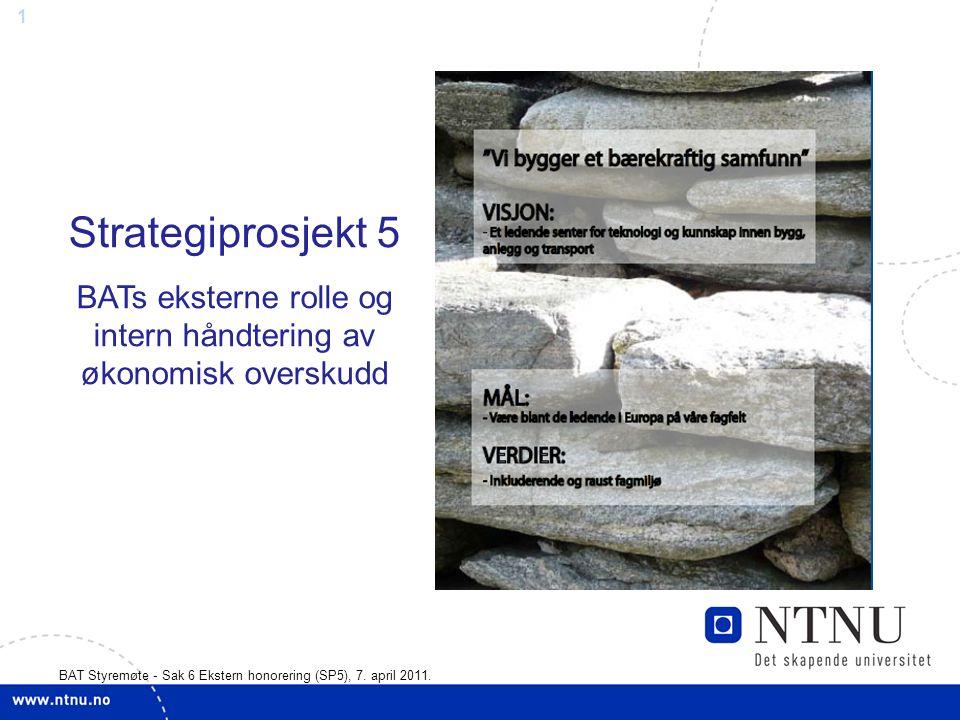 1 BAT Styremøte - Sak 6 Ekstern honorering (SP5), 7.