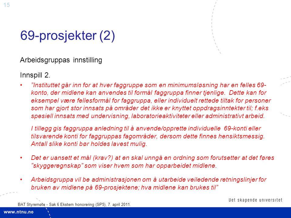 15 BAT Styremøte - Sak 6 Ekstern honorering (SP5), 7.
