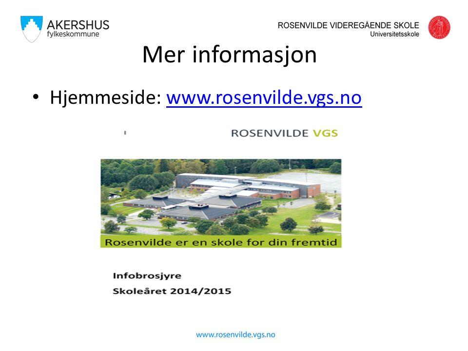 Mer informasjon Hjemmeside: www.rosenvilde.vgs.nowww.rosenvilde.vgs.no