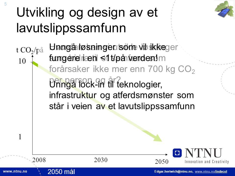 16 Edgar.hertwich@ntnu.no, www.ntnu.no/indecol Oppsummering Klimaet kan kun stabiliseres hvis vi reduserer vår karbonfotspor radikalt Det er viktig å stoppe Kinas utslippsvekst –Skift i Kinas energiteknologi –Stopp produsere energiintensive varer i Kina Miljøskadevirkning må prises inn i produktene –Det er også noe Norge/Europa/OECD kan gjøre!