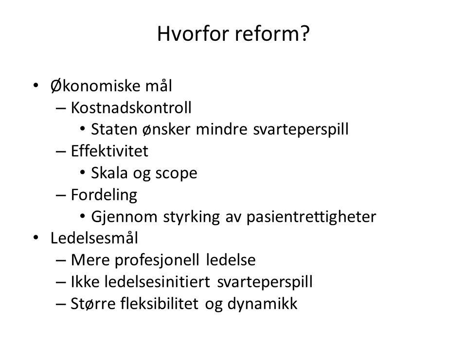 Hvorfor reform.