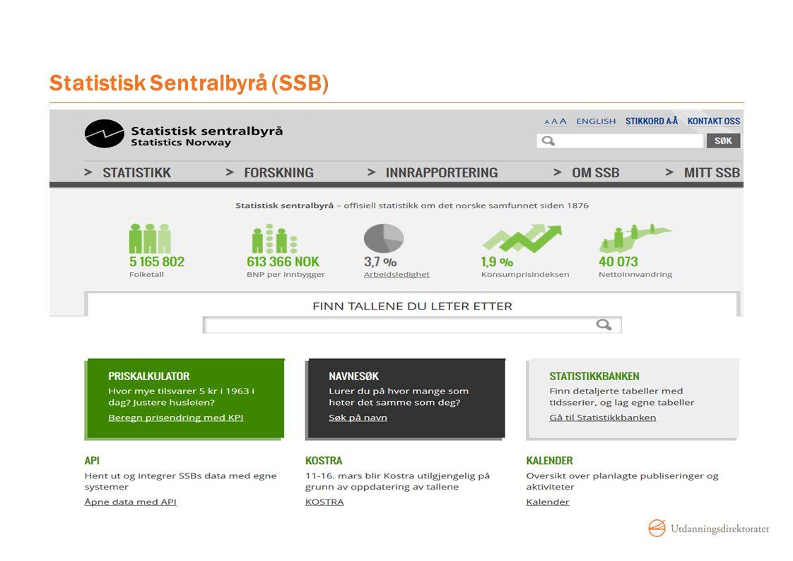 Statistisk Sentralbyrå (SSB)