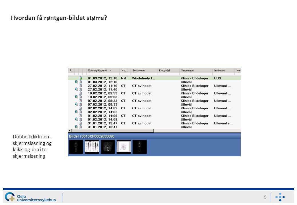 Beskrivelser for bilder tatt på Ullevål 6 Pkt 1 Åpne aktuell mappe og klikk på «Endelig rapport»