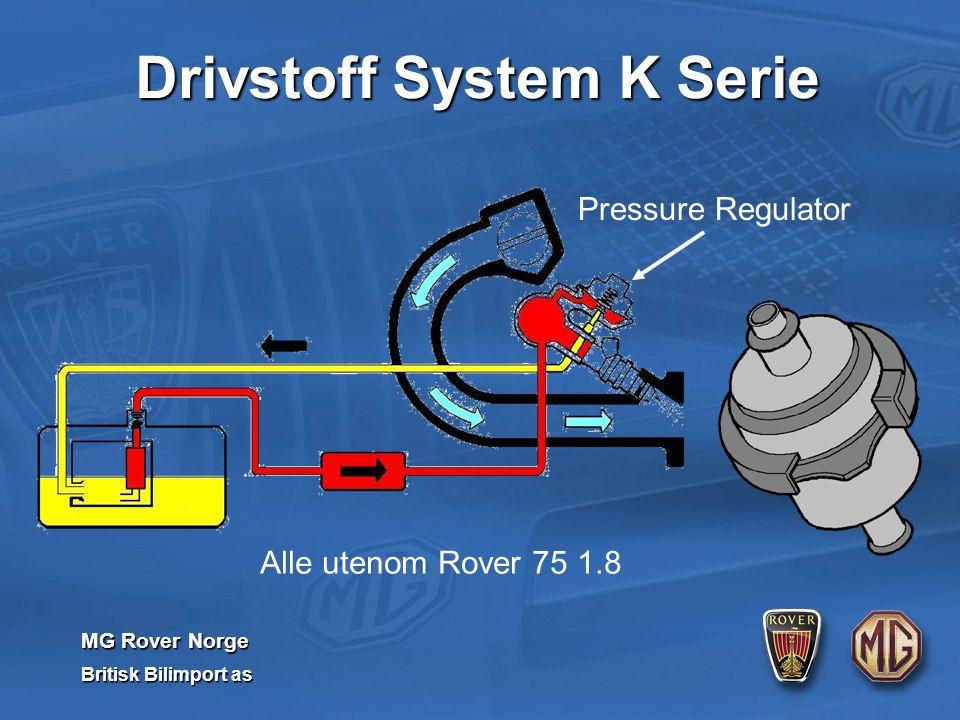 MG Rover Norge Britisk Bilimport as Pressure Regulator Alle utenom Rover 75 1.8 Drivstoff System K Serie