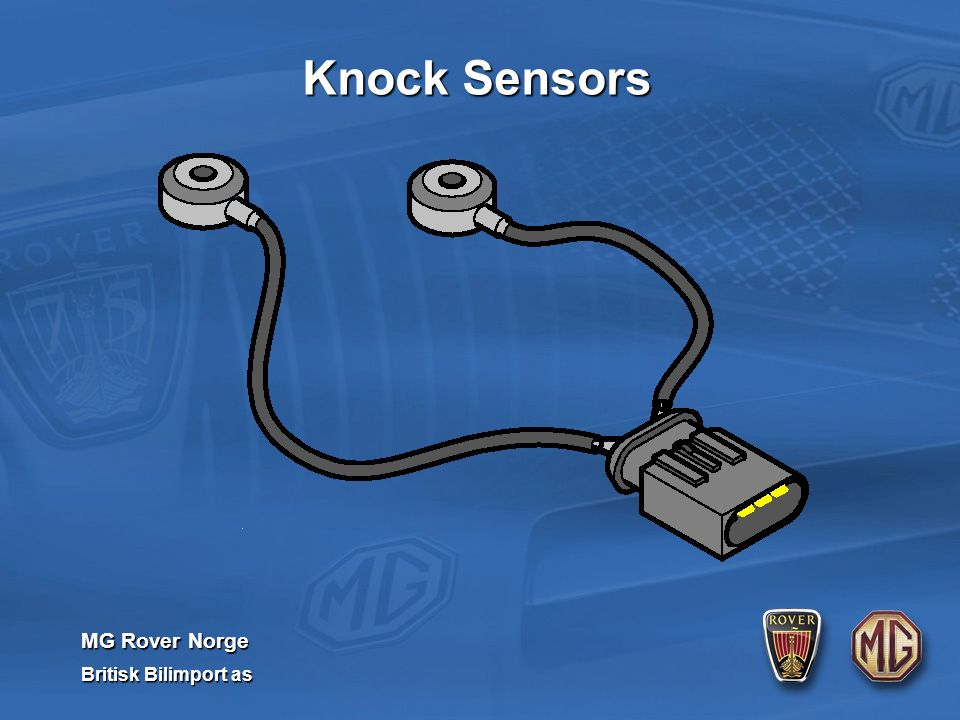 MG Rover Norge Britisk Bilimport as Knock Sensors
