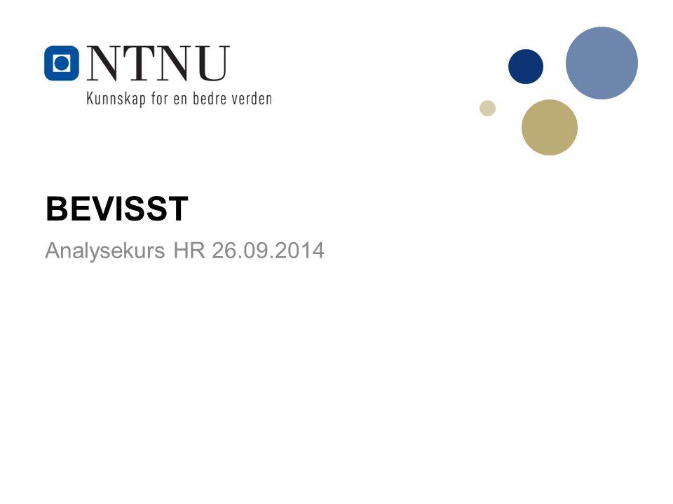 BEVISST Analysekurs HR 26.09.2014