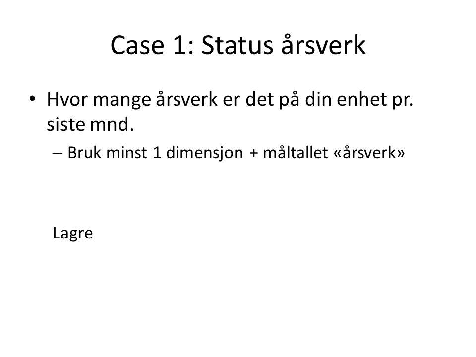 Case 1: Status årsverk Hvor mange årsverk er det på din enhet pr.