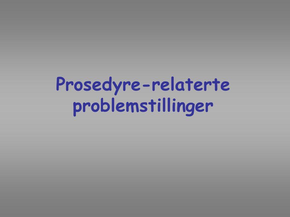 Prosedyre-relaterte problemstillinger