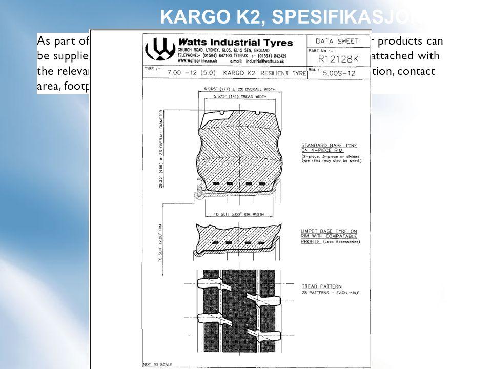 KARGO K2, SPESIFIKASJONER