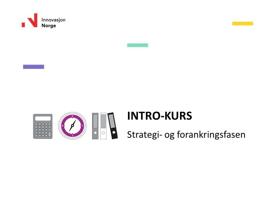 INTRO-KURS Strategi- og forankringsfasen
