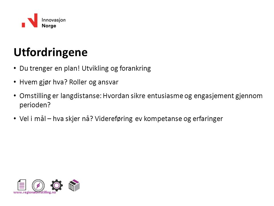 Oppgave: Stikkord til handlingsplan Bruk strukturen på neste slide, sett inn forslag/ stikkord til 1.