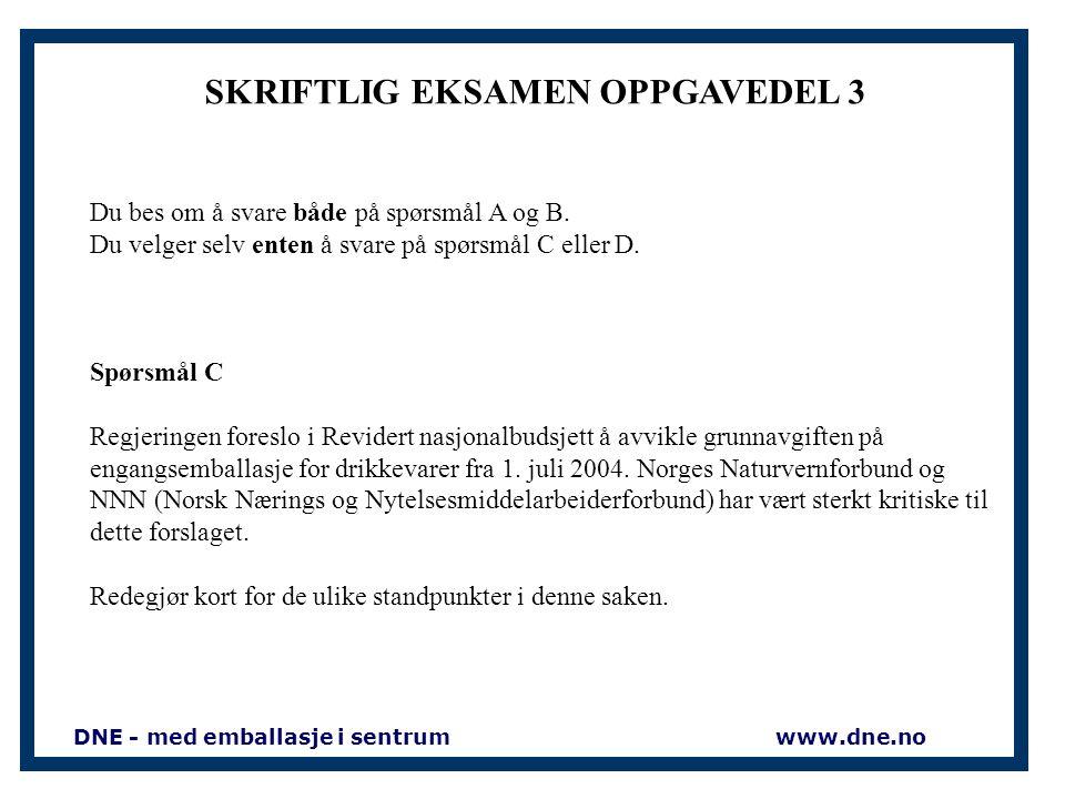 SKRIFTLIG EKSAMEN OPPGAVEDEL 2 Spm. 2.1.