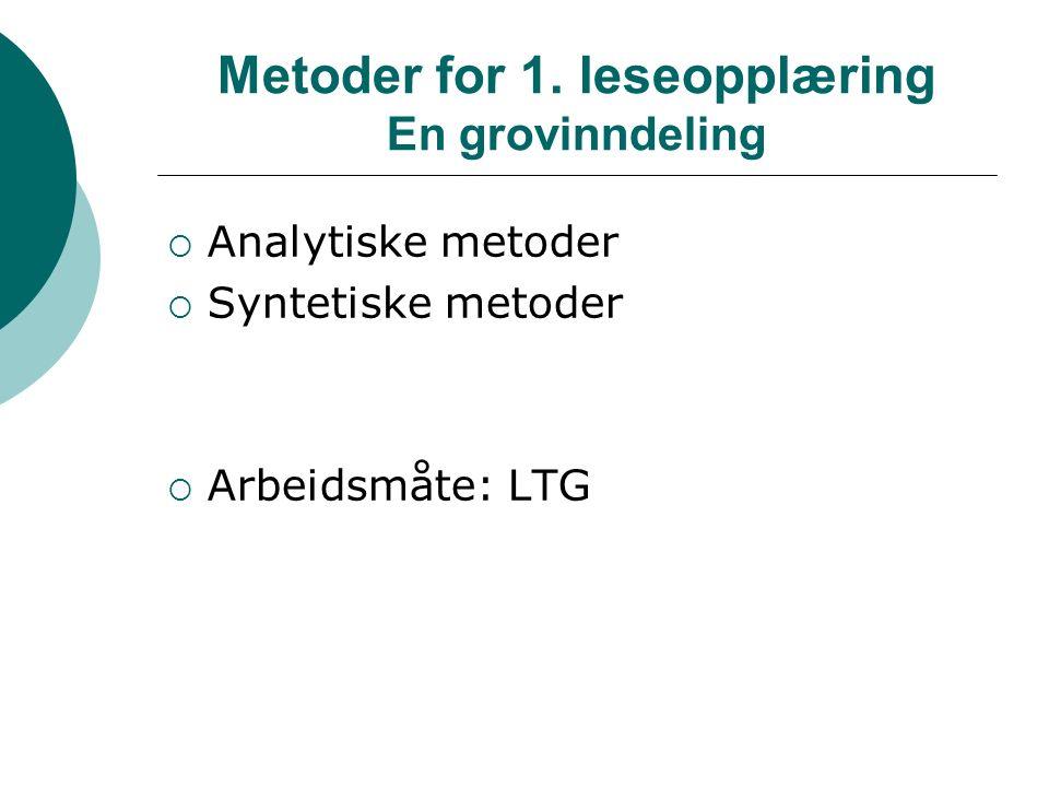 Metoder for 1.