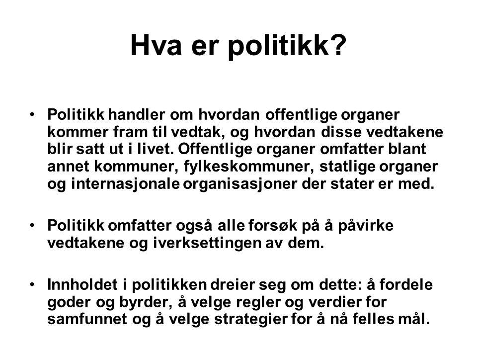 Hva er politikk.