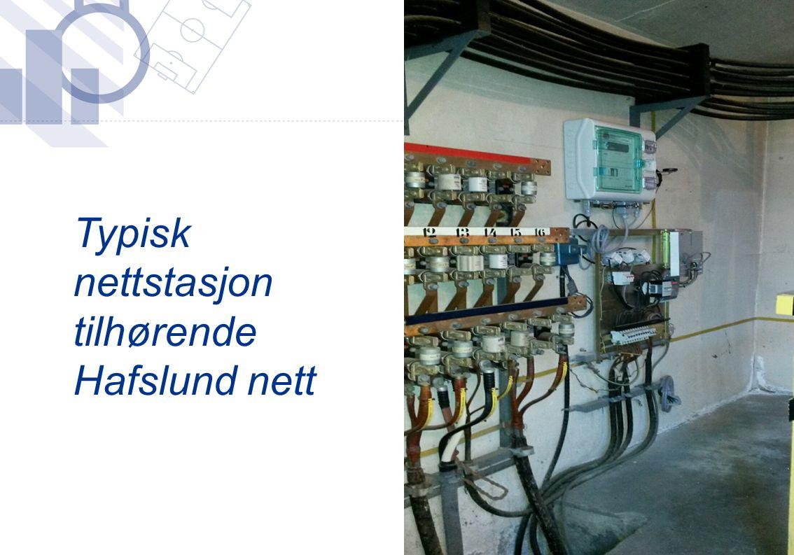 Typisk nettstasjon tilhørende Hafslund nett