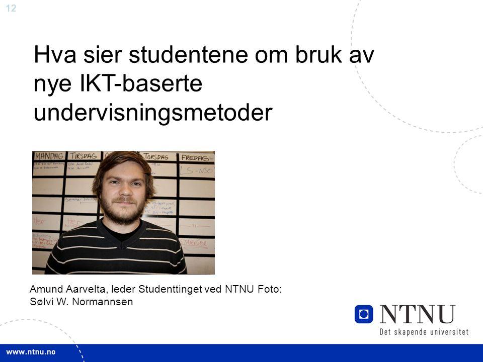 12 Amund Aarvelta, leder Studenttinget ved NTNU Foto: Sølvi W.