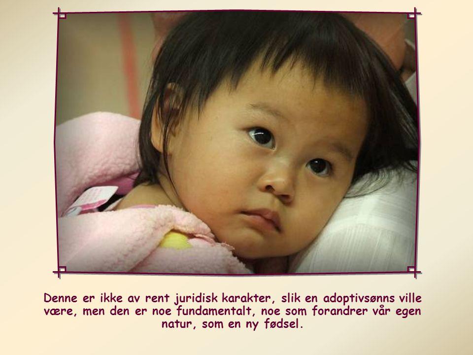Paulus snakker også om adopsjon .