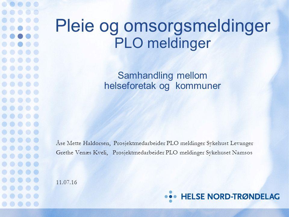 St.meld nr 47 (2008-2009) Samhandlingsreformen LOV-2011-06-24-30 Helse- og omsorgstjenesteloven Forskrift om kommunal betaling for utskrivningsklare pasienter av 18.