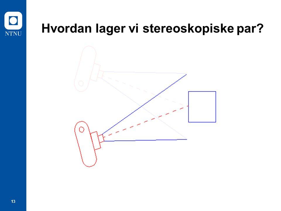13 Hvordan lager vi stereoskopiske par